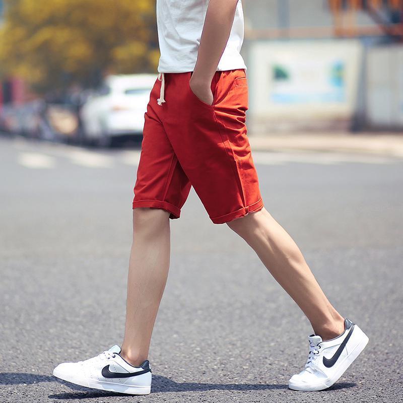 New Shorts Mann-Sommer-Fashion Solid Herren Shorts beiläufige Baumwolle dünne Bermuda Masculina Strand Shorts Klassische knielangen Short Schöne