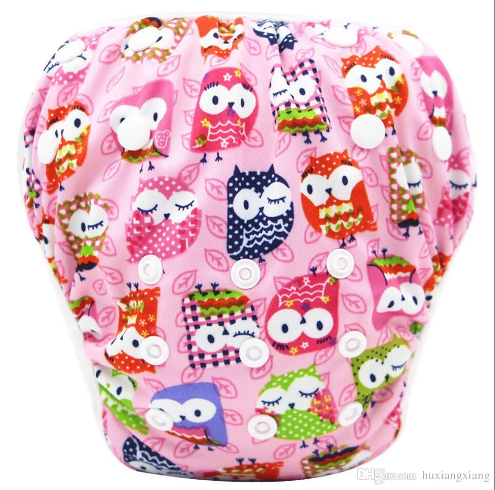 Prints Kids Training baby Swimming pant One size Diapers Baby Nappies Washable reuseable Modern Cloth Diapers trunks leakproof S19JS208
