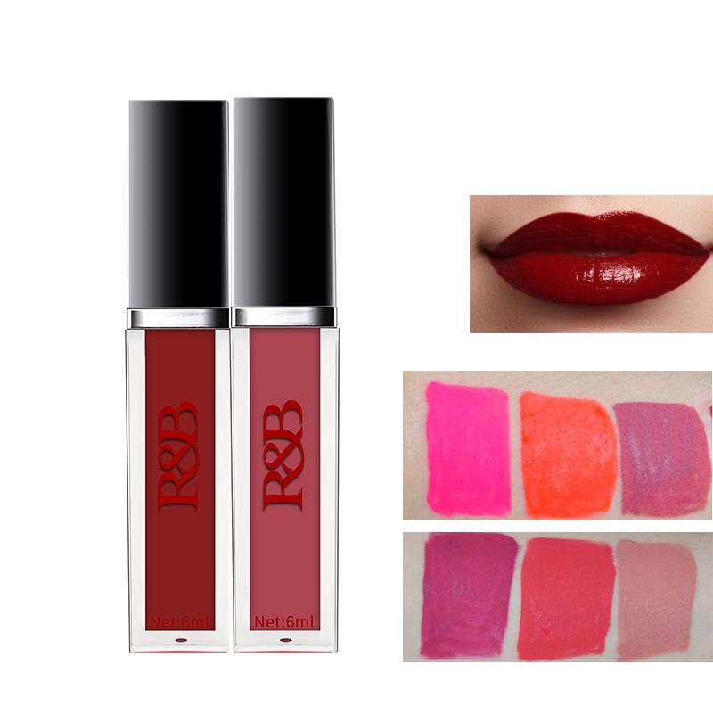 Envío de la gota líquida RB lápiz labial maquillaje de labios mate hidratante suave y el labio del maquillaje de labios Tinte cosmética brillo de larga duración