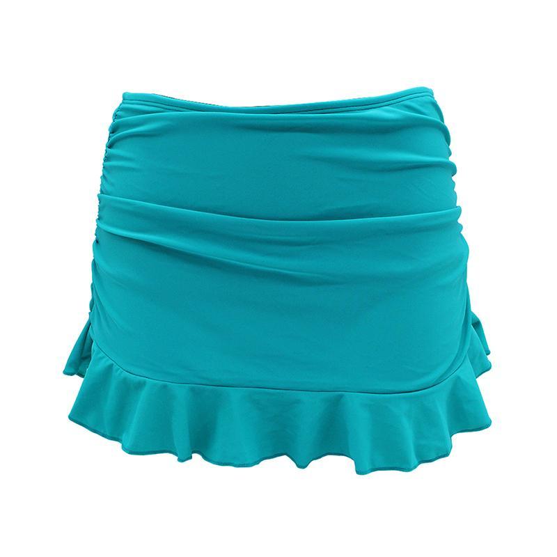 Swimwear swimsuit swimsuit embutido bottoms mulheres shirred plissado saia biquini bottoms y19072001