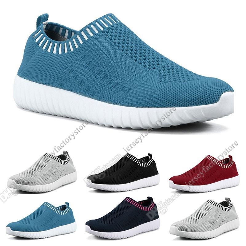 Melhores sapatos de tamanho grande das mulheres de venda voando as sapatilhas das mulheres um pé leve e respirável calçados esportivos casuais tênis Quarenta e um