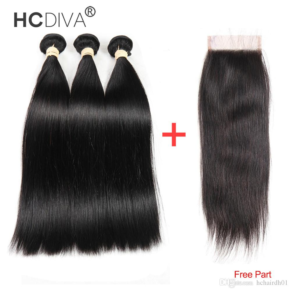8А Бразильский Девы волос с фронтальным человеческих волос Weave 3 Связки с фронтальным Virgin бразильский Объемная волна волос с кружевом Фронтальная Закрытие