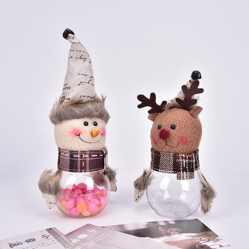 Santa Claus /Snowman/Elk Christmas Tree Ornaments Desktop Christmas Candy Jar Christmas Gift Bag For Kids Window Home Decor