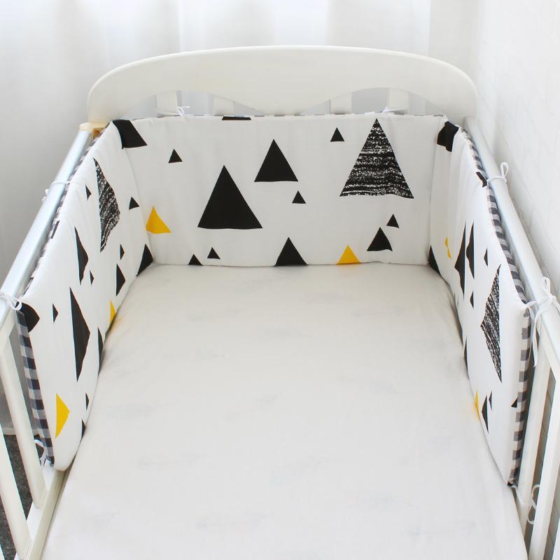 Nordic Design Bed Bumper Thicken Cartoon Crib Around Cushion For Newborns Cot Protector Pillows Baby Room Decor 1pcs Q190530