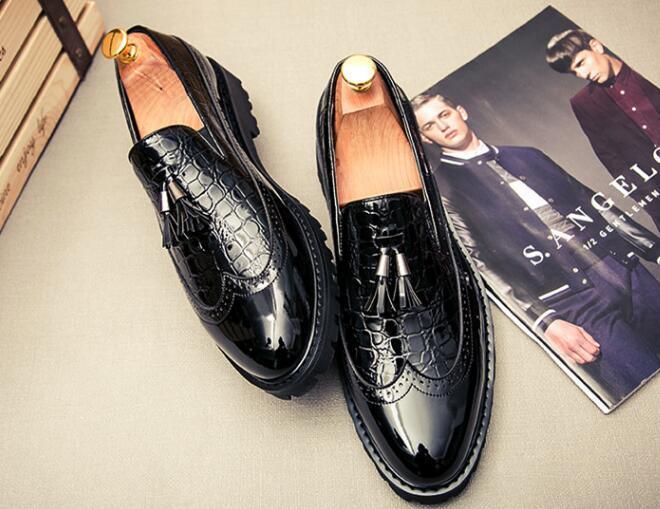 Summer Business Tip Block, chaussures coréennes pour hommes, glands, stylistes stylés, chaussures en cuir respirant, chaussures de mariage britanniques