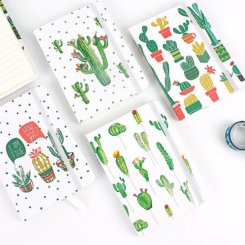 10.5*7.5cm Green Leaves Daily Office Supplies Week Planner Spiral Notebooks Day Plan Diary Notepads School Stationery
