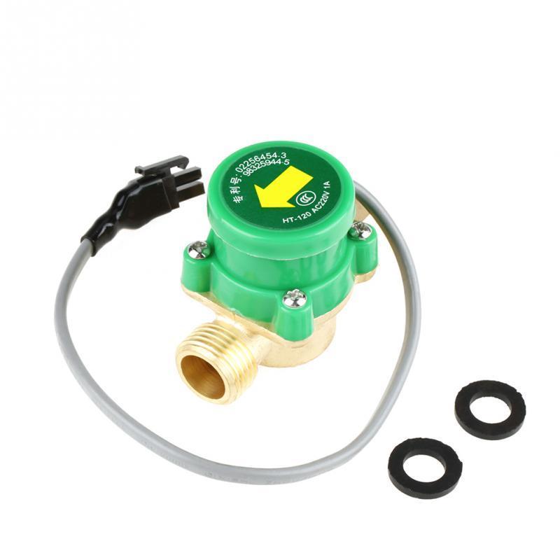 Hot 2019! HT-120 AC220V 0.5A G1/2-1/2 inch Thread Water Pump Flow Sensor Switch Tools Accessory