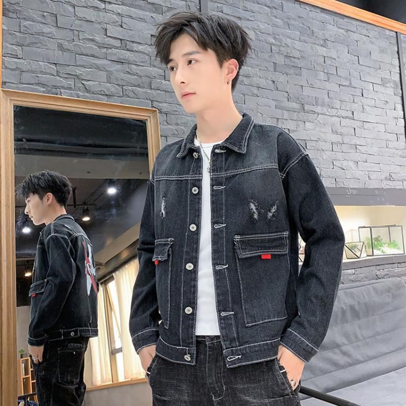 MAGGIE'S WALKER Spring New Youth Trend Retro Street Style Handsome Slim Casual Hand-Worn Denim Men's Jacket