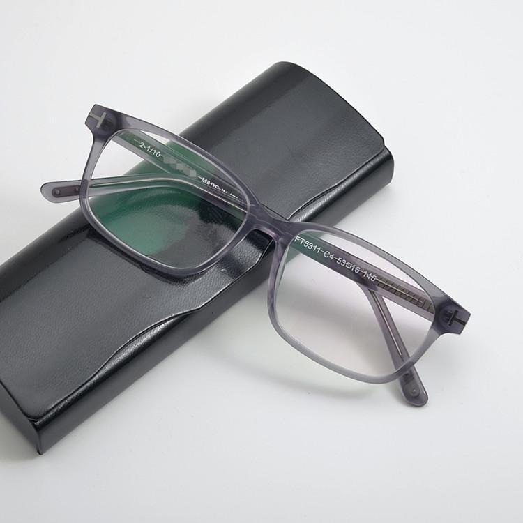 EU-am Hotsale FT5311 küçük yüz dikdörtgen gözlük çerçeve 53-16-145 unisex tahta Fullrim reçete gözlük güneş gözlüğü fullset için Kılıf