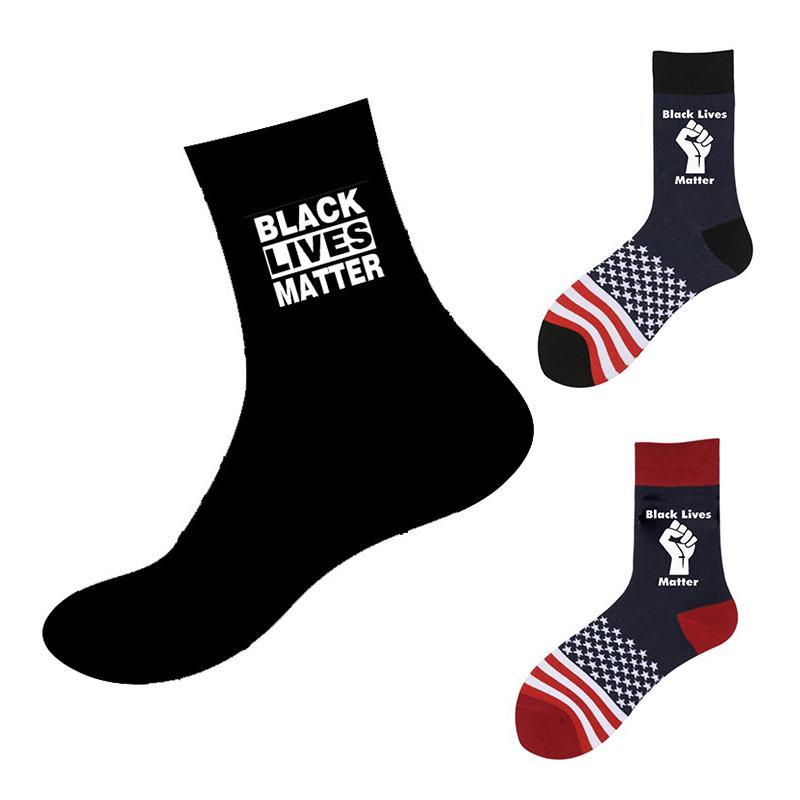 BLACK Chaussettes unisexe MATTER VIES drôle heureux Imprimer Adulte Chaussettes Casual Hommes Hip Hop