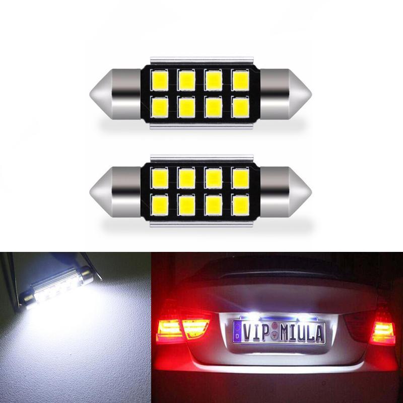 2x LED 36mmm White CANbus C5W Bullbs 2835SMD Interior Lights License Late Plate Light For E39 E36 E46 E60 E30 E53 E70