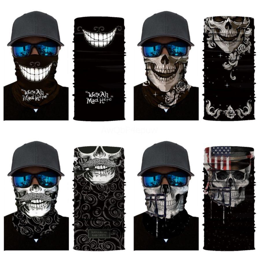 Envio Skull Scarf Bandanas 2020 Neck Gaiter Com Segurança filtros criativos Magia Multi-Purpose Rosto Er Para Homens Mulheres Pr # 133 # 580