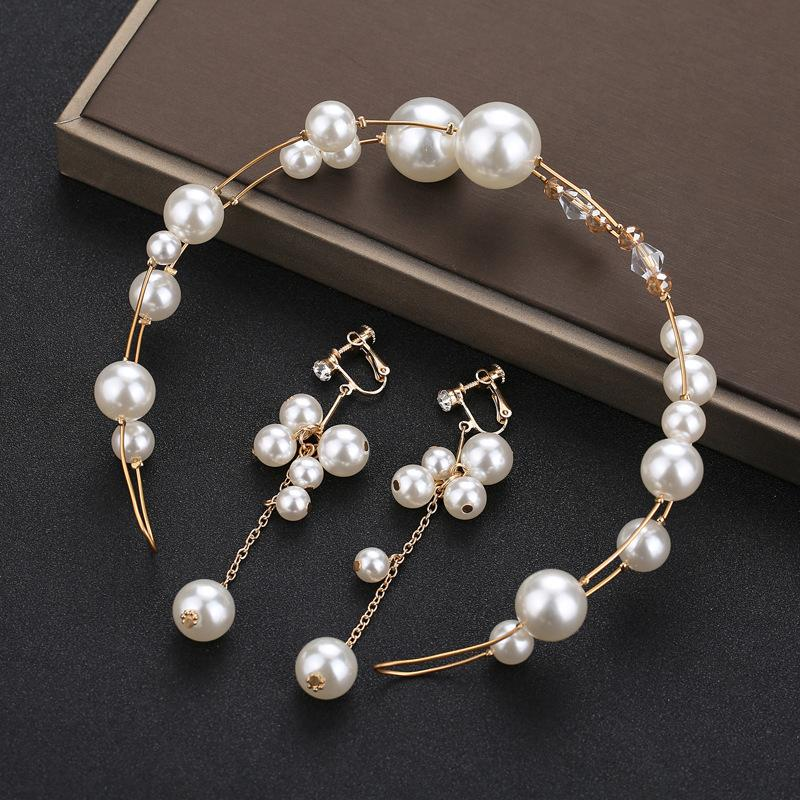 Day Han Bride Pearl Headwear Small Fairy Exquisite Manual A String Of Beads Ornaments Bridesmaid Small Fresh Wedding Dress Accessories