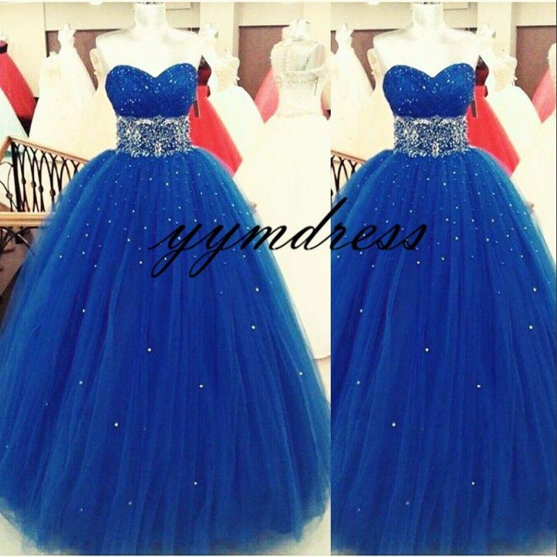 Royal blue Prom Dresse 2019 bola vestido de noche vestido de novia con cuello sexy sin respaldo hasta el suelo vestidos de fiesta formales vestidos de fiesta