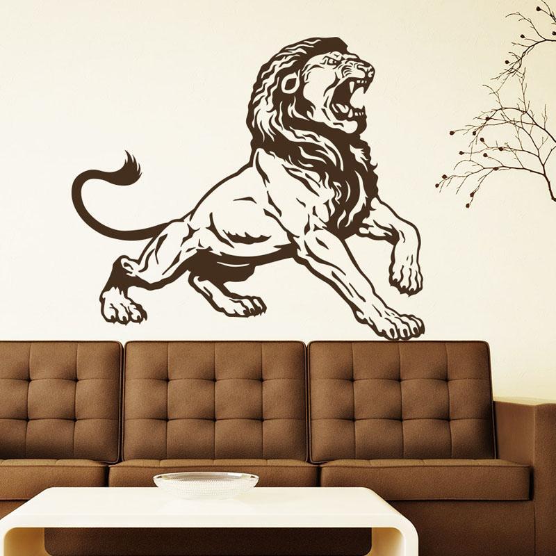 Lion King Vinyl Art Фрески Home Decor наклейки Гостиная украшения съемные стены стикеры Переводные картинки