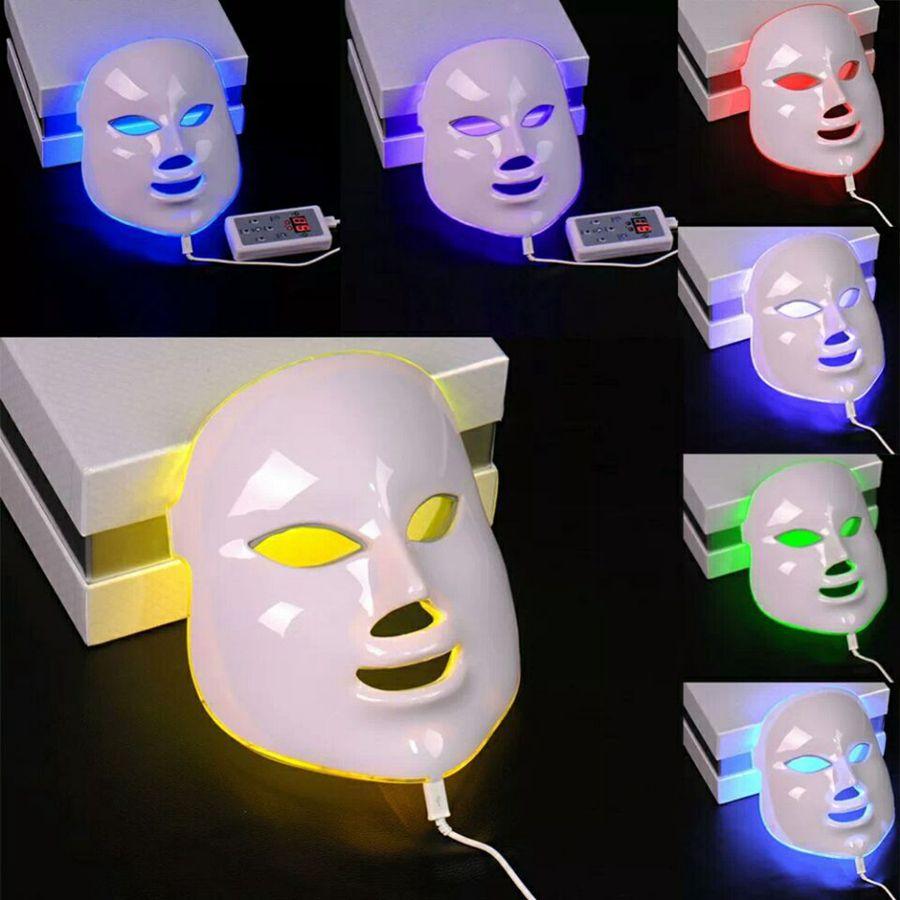 7 Renk Işık Foton Yüz Maskesi Elektrik Yüz Cilt Bakımı Gençleştirme Tedavisi Anti-aging Cilt Aracı RRA1226 sıkın LED