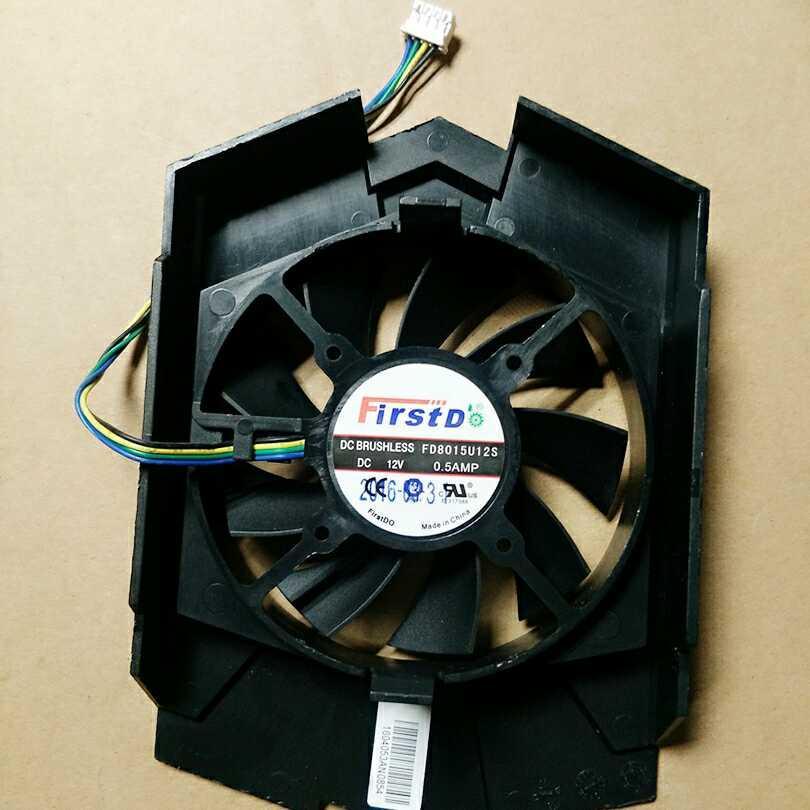 Yeni HD6770 FD8015U12S 12V 0.50A 4 kutuplu kablo fiş grafik kartı sessiz fan