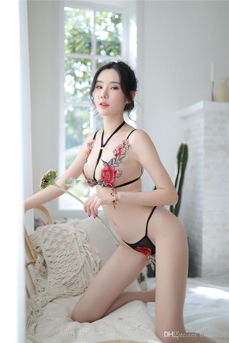 Женщины Mesh Sexy печати Нижнее белье Летняя мода с выдалбливают Для женщин 2pcs купальники дамы Модельер набор