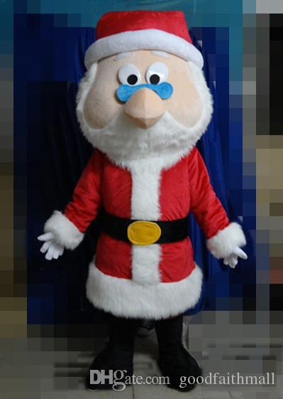 2019 High quality the head red Father Christmas mascot suit for adult Santa Claus cartoon costume