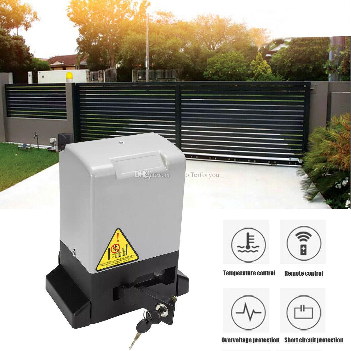 Brand New 370W 800KG Sliding Gate Opener Automatic Electric Door Operator with Remote Control 6m Rack