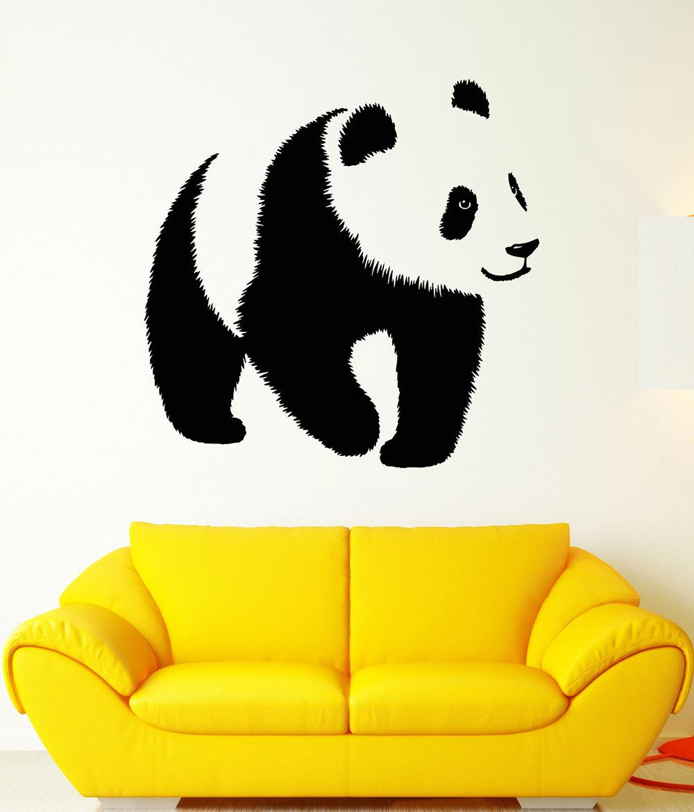 Nursery Panda Vinyl Wall Stickers Baby Gifts Asian Bear Animal Zoo Sticker Decals for Girls Boys Kids Wall Decal Lovely