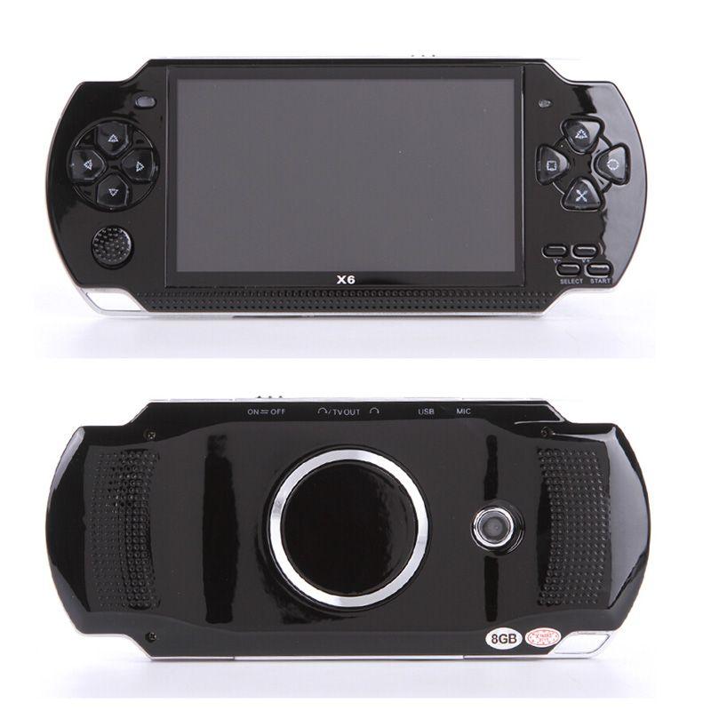 10000 jeux jeux ordinateur de poche console de jeu 4.3 pouces écran lecteur mp4 joueur de jeu MP5 réel 8 Go de soutien pour le jeu psp avec caméra vidéo e-book