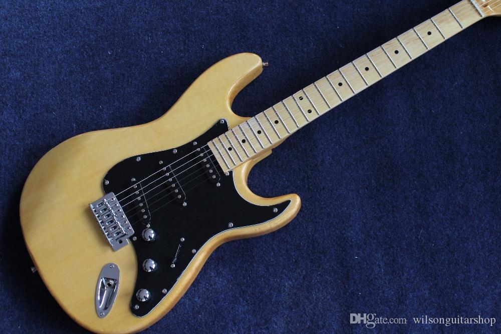 New guitarra elétrica padrão personalizado ST, Bordo fingerboard Guitarra, trabalho manual 6 Cordas gitaar, fotos reais