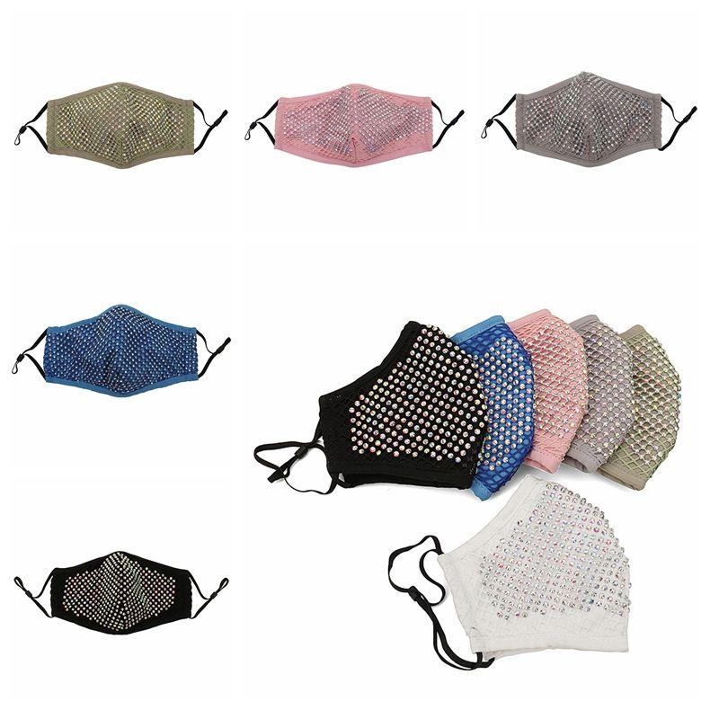 Алмазная Маска пылезащитные маски для лица многоразовые дышащие моющиеся с прокладкой фильтра PM2.5 Алмазный рот муфель CCA12265 60шт