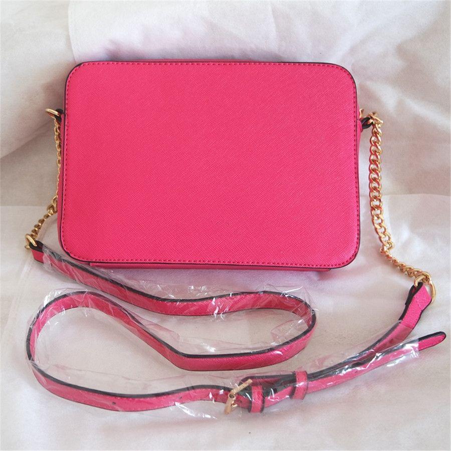 Bolsos de hombro de la aleta del diseñador Chain Crossbody bolso de alta calidad del cuero genuino Negro bolsas de mano bolsas de mensajero # 397
