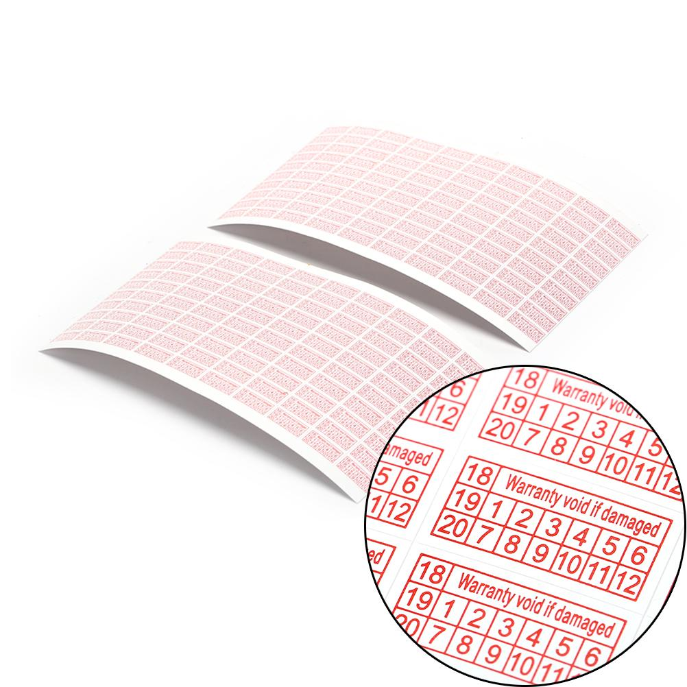 2018-2020 Warranty Void If Damaged Protection shredded paper Security Label Sticker Seal 600pcs