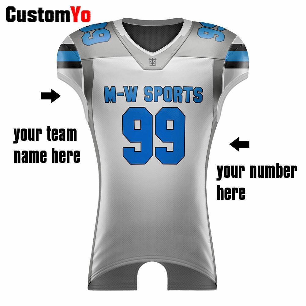 Ropa de calidad superior de fútbol personalizada transpirable Ropa de deporte camiseta de fútbol americano Color