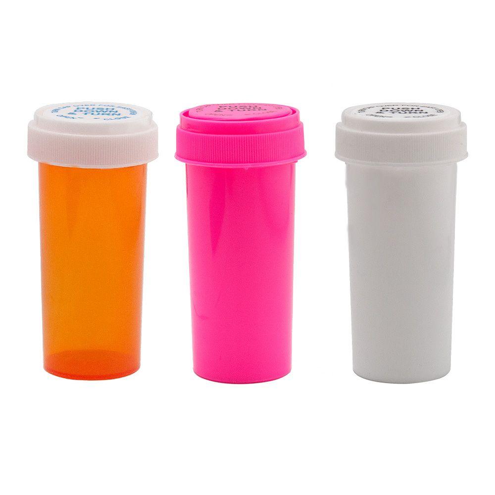 30 드람 푸시 다운은 유리 병 컨테이너 아크릴 플라스틱 저장 은닉 항아리 약 병 케이스 담배 상자 허브 컨테이너를 돌려