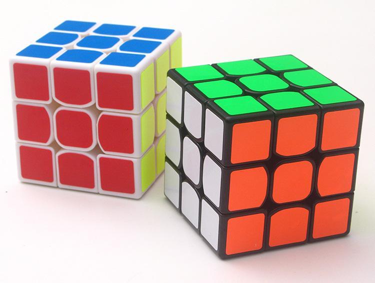 cubo giocattolo 5,6 centimetri di puzzle 2 colori 3 ° ordine puzzle classico cubo di puzzle giocattolo per adulti velocità professionale e giocattoli educativi dei bambini