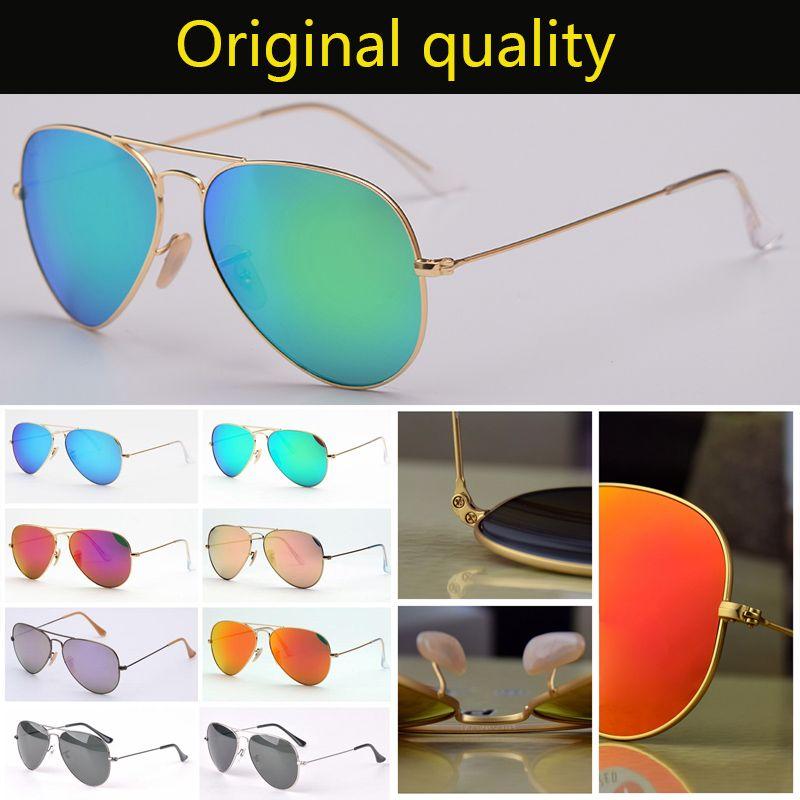 Diseñador de lentes de gafas de sol 3025 G15 vidrio de 58 mm de alta calidad gafas de piloto de aviación de sol para hombres mujeres accesorios Oraginal!