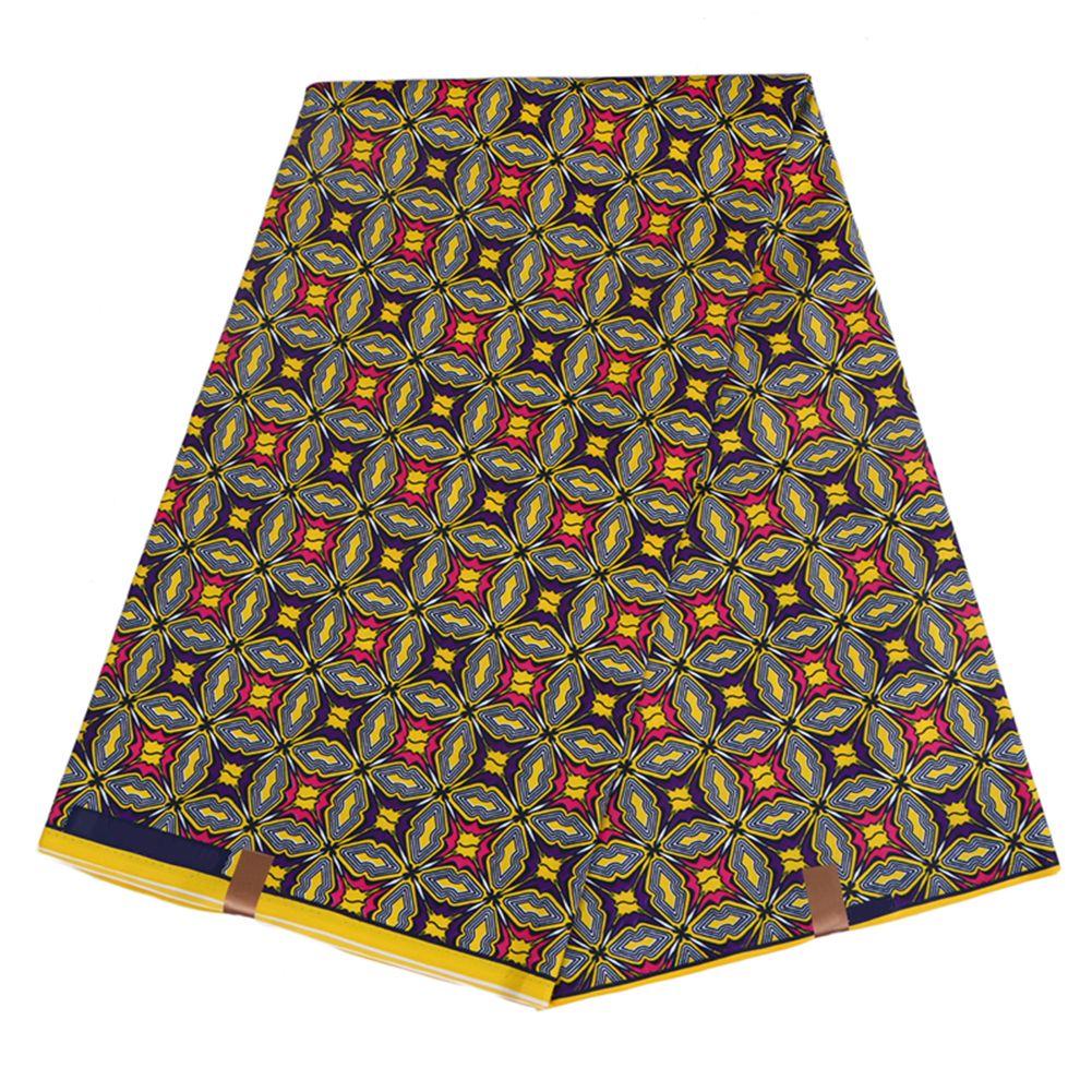 Новые прибытия полиэстер воск печатает ткань Анкара Binta реальный воск высокое качество 6 ярдов / лот Африканская ткань для платья партии FP6005