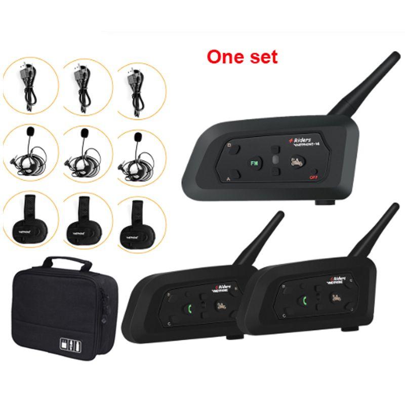 3-Way Football arbitre Walkie Talkie Talkie Headset VNetPhone V6C 1200M Full Duplex Bluetooth MP3 Headphone sans fil Soccer Interphone
