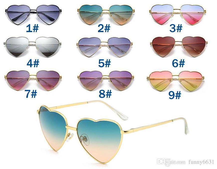 여름 여자 사랑하는 마음 선글라스 운전 태양 안경 숙 녀 브랜드 패션 스포츠 눈 착용 oculos 새로운 브랜드 선글라스 9color 무료 배