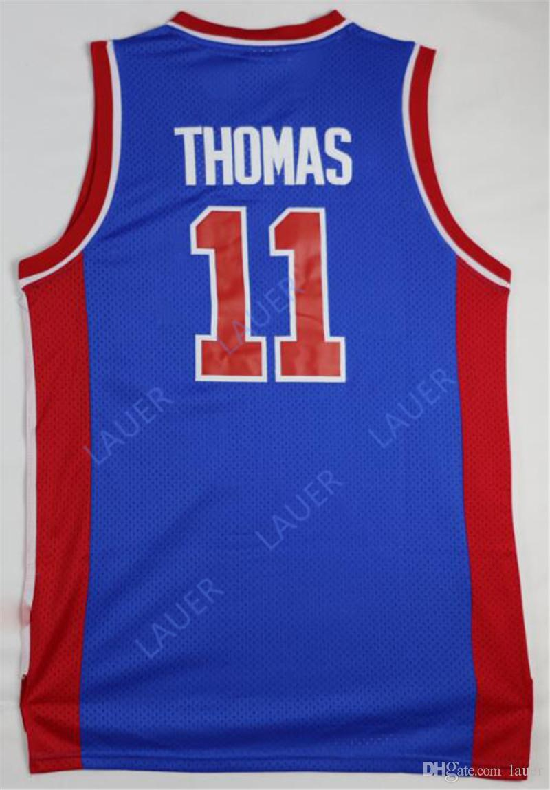 5d667fa8a69 2019 NCAA Retro Basketball Jersey 0 Andre Drummond 33 Grant Hill 23 Blake  Griffin 11 Isiah Thomas Stitched Basketball Jerseys From Tenplus