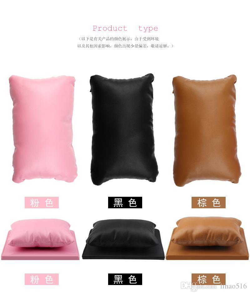 Set Nail Art Soft Arm Cushion Hand Rests Pillow Hand Holder Cushion Table Mat Salon Manicure Pad Foldable Washable Equipment LH315