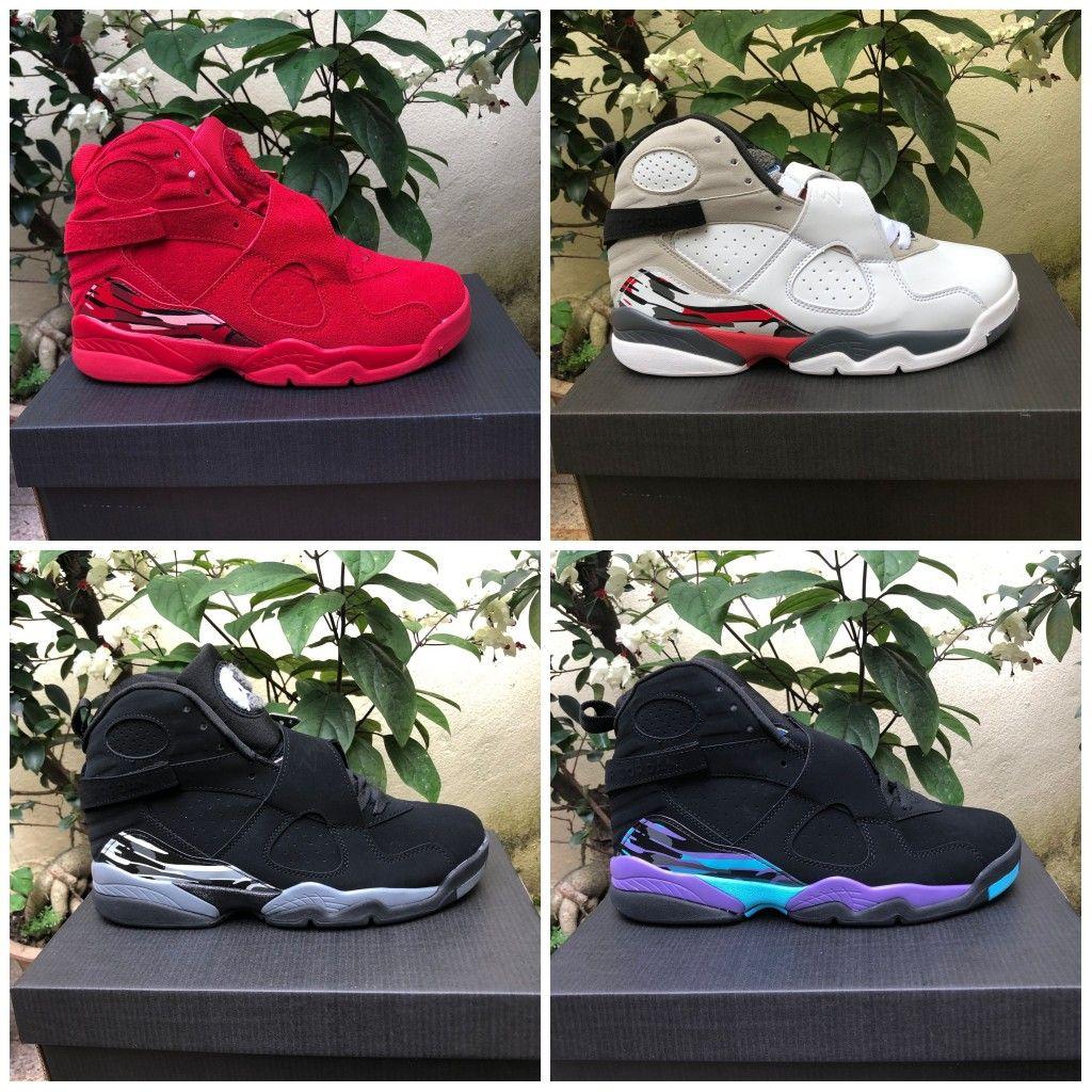 Nuovi uomini scarpe da basket 8s San Valentino Day Countdown Pack 8 insetti riflettenti bunny Mens retros scarpe da ginnastica Designer Sport Sneakers 7-13