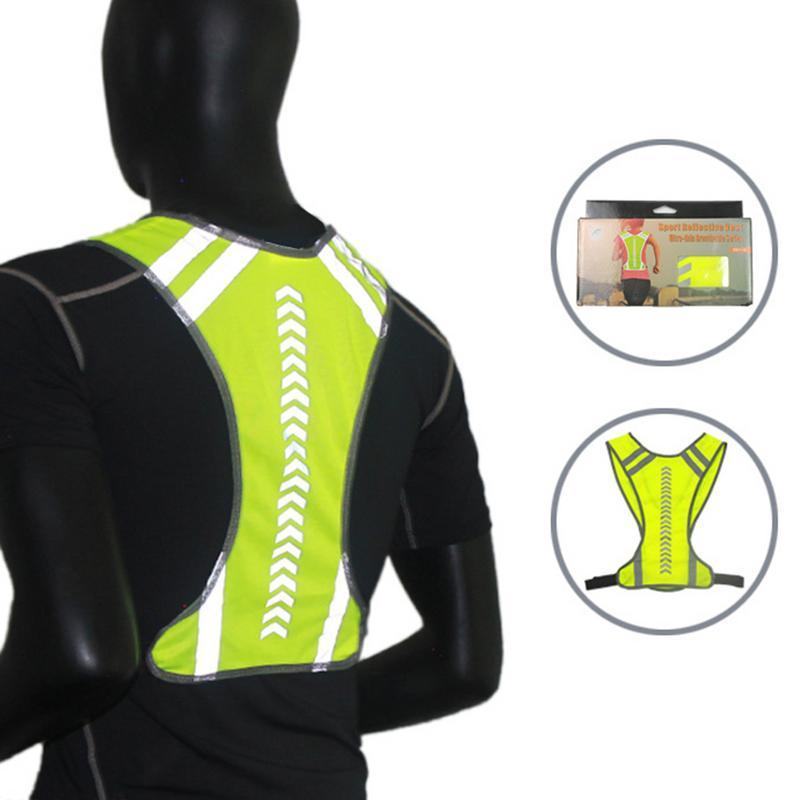 Sécurité réfléchissants vélo Vêtemens haute visibilité Gilet Avertissement Manteau Reflect Veste Hauts pour la construction de l'assainissement
