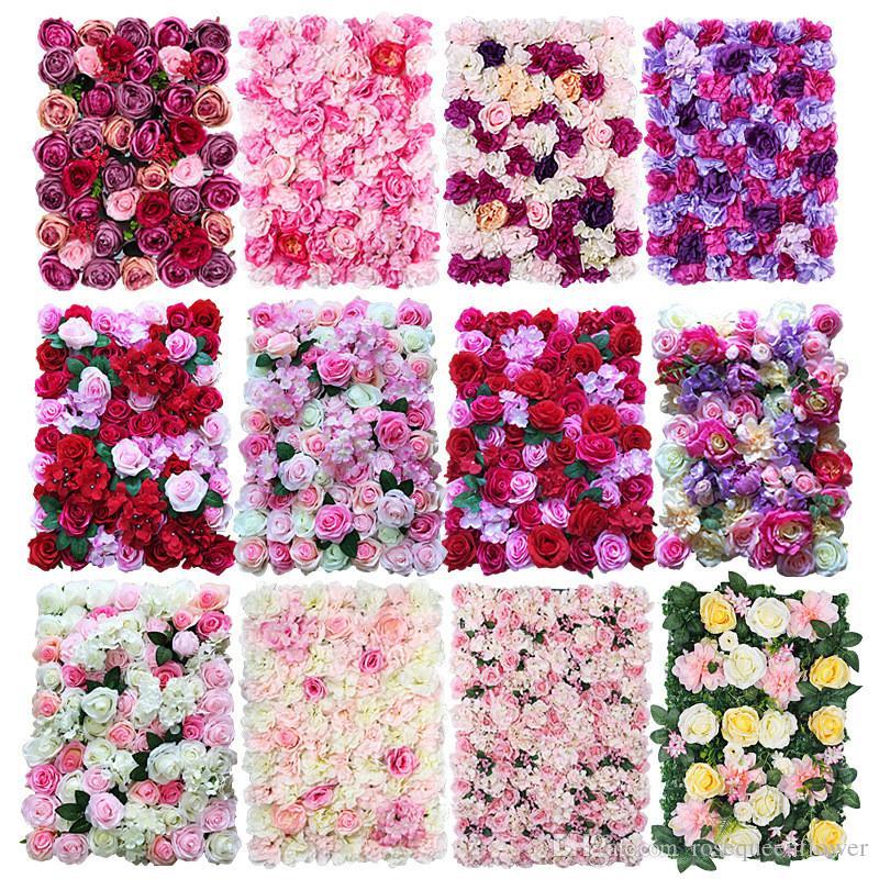 40x60cm Silk Rose Flower Champagne Artificial Flower for Wedding Decoration Flower Wall Romantic Wedding Xmas Backdrop Decor