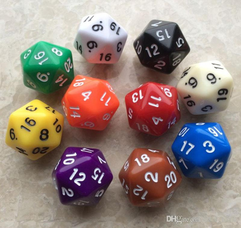 Random Send 20 Sided Digital Dice Table Games TRPG DND Dice D20 Dice For Drinking Party Outdoor KTV For Fun With Friends M515Y