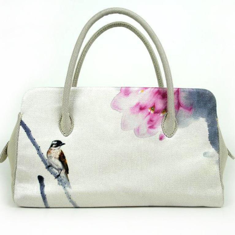 Künstlerische Baumwolle und Leinen Tasche Druck 2019 Neue Spring Fashion Kreative Handtasche Ethnic Wind Bag