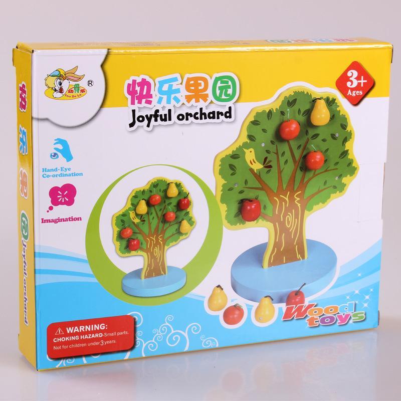 Arbre Montessori bois poire pomme magnétique Math Jouets d'apprentissage Jouets éducatifs pour enfants en bois garçons Cadeaux d'anniversaire