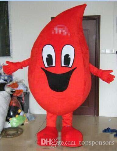 2019 Factory direct sale adult red blood drop mascot costumes water drop mascot costume
