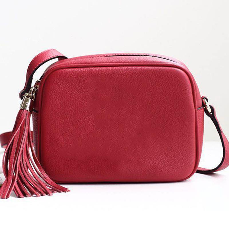 Designer-Handtaschen SOHO DISCO-Beutel-Leder-Troddel-Reißverschluss-Schulter-Beutel-Frauen-Crossbody Beutel Designer Luxus-Handtaschen Portemonnaie mit Box