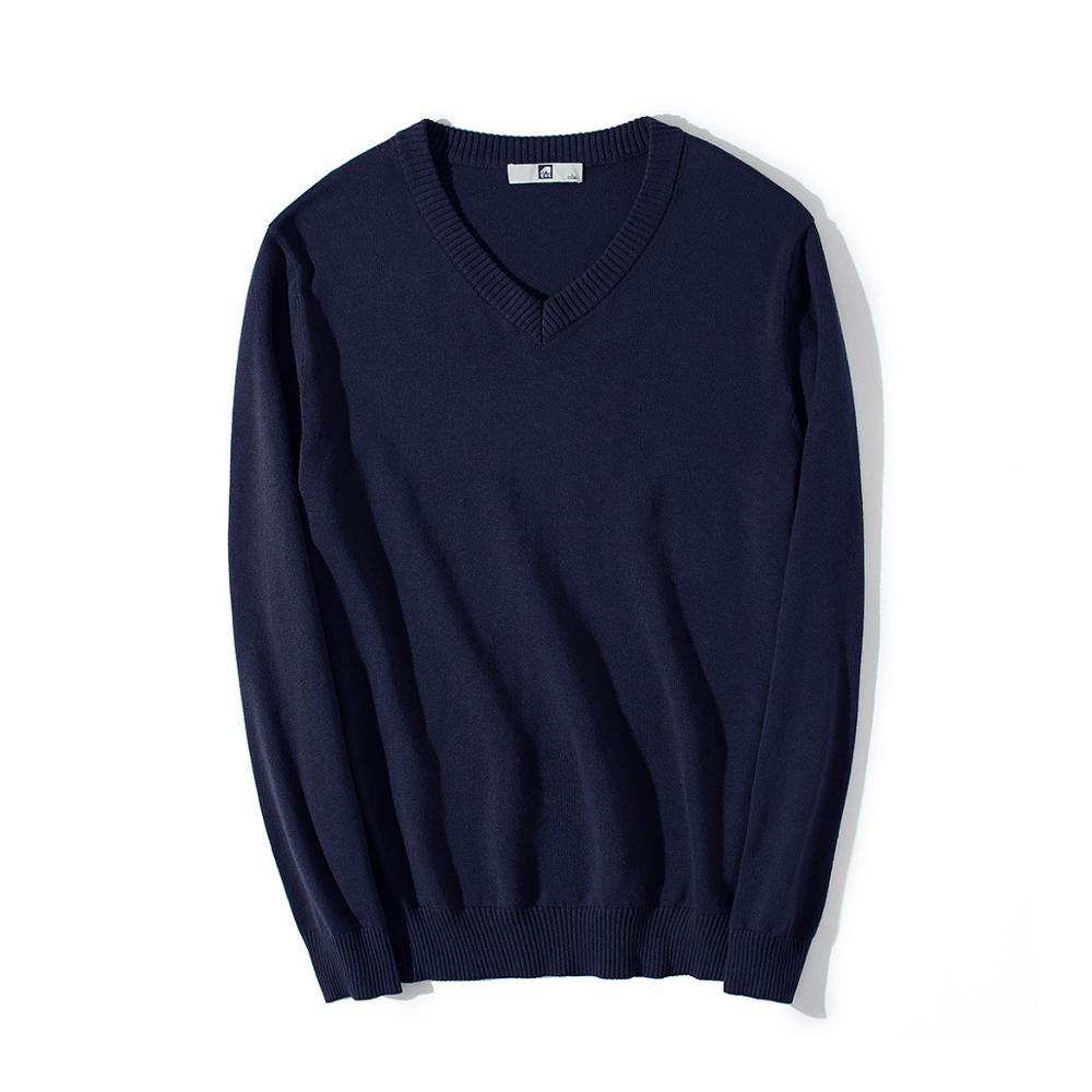 Men's Sweaters Men Sweater Basic Pullover Casual Solid Color Youth Autumn Mens V-neck Thin Streetwear Clothes Cotton Pullovers