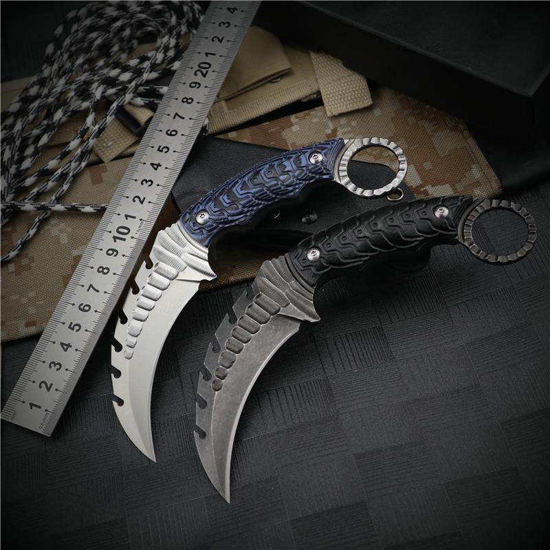 karambit bıçağı EDC sağkalım taktik sabit bıçak, bıçak programı açık bıçaklar cs avcılık bıçaklar kamp kalem G10 bıçak gitmek bıçaklar