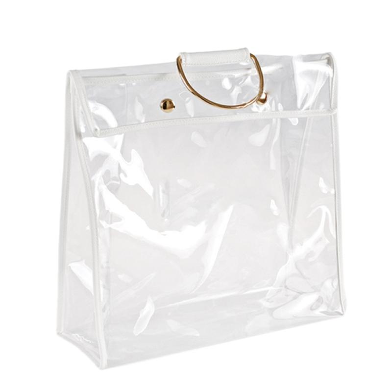 Promotion! Fashion Clear Dust-Proof Bag Case Organizer Woman Transparent Handbag Protector Holder for Travel Beach